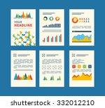 set of flyer  brochure design... | Shutterstock . vector #332012210