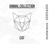 geometric vector animal cat... | Shutterstock .eps vector #332016203