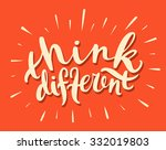 think different. | Shutterstock .eps vector #332019803