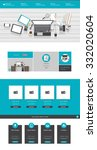 modern flat website template ...