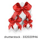 white gifts  with red ribbon on ... | Shutterstock . vector #332020946