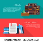 set of vector banners. library... | Shutterstock .eps vector #332025860