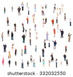business picture team over...   Shutterstock . vector #332032550