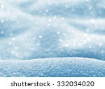 natural winter background with... | Shutterstock . vector #332034020