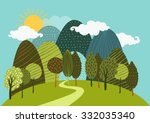 vector spring or summer... | Shutterstock .eps vector #332035340