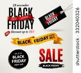 black friday sale design... | Shutterstock .eps vector #332040326