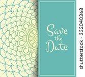wedding invitation. vintage... | Shutterstock .eps vector #332040368