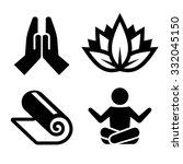 yoga icons set for spa center....   Shutterstock .eps vector #332045150