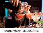 the girl bartender prepares a ... | Shutterstock . vector #332050613