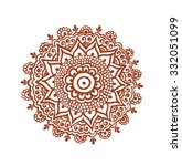 ornate circle  mandala   ... | Shutterstock .eps vector #332051099