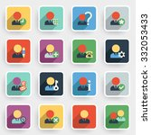 users modern flat icons with... | Shutterstock .eps vector #332053433