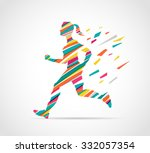 woman running  jogging  ...