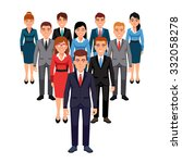 executives team standing in... | Shutterstock .eps vector #332058278