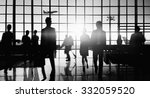 crowd people silhouette busy... | Shutterstock . vector #332059520