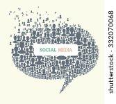 social media bubble speech... | Shutterstock .eps vector #332070068
