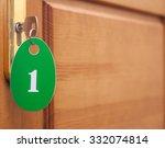 Door Handles On Wood Wing Of...