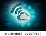 cloud computing concept | Shutterstock . vector #332077634