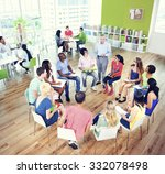 college students learning... | Shutterstock . vector #332078498