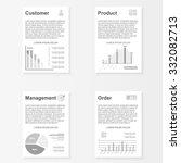 flat infographic brochures... | Shutterstock .eps vector #332082713