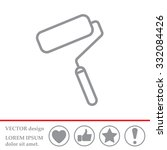 paint roller icon. paintbrush... | Shutterstock .eps vector #332084426