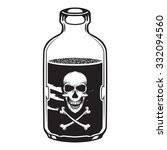 vintage vector poison bottle... | Shutterstock .eps vector #332094560