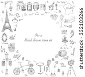 set of hand drawn french icons  ... | Shutterstock .eps vector #332103266