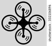 flying quadcopter vector icon.... | Shutterstock .eps vector #332106896