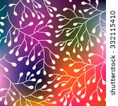abstract floral background. | Shutterstock .eps vector #332115410