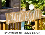 photobooth sign outdoors at a... | Shutterstock . vector #332115734