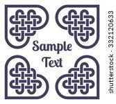 monochromatic celtic knot frame ...   Shutterstock .eps vector #332120633