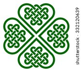 four leaf clover shaped knot... | Shutterstock .eps vector #332120639