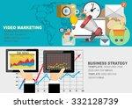 set of flat design illustration ... | Shutterstock .eps vector #332128739