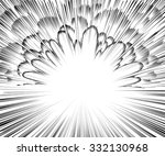 comic book explosion. black and ... | Shutterstock .eps vector #332130968