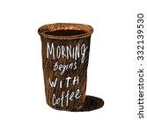 vintage poster. morning begins... | Shutterstock .eps vector #332139530