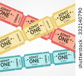 Old Colorful Tickets For Event...