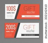 gift voucher template. vector...   Shutterstock .eps vector #332142410