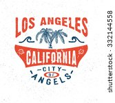 67 city of angels los angeles... | Shutterstock .eps vector #332144558