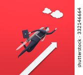 rocket launch. concept business ... | Shutterstock . vector #332146664