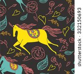 cute sweet unicorn fantasy...   Shutterstock .eps vector #332150693