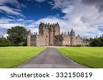 view of glamis castle in...