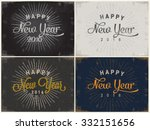 happy new year greeting card | Shutterstock .eps vector #332151656
