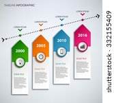 time line info graphic with... | Shutterstock .eps vector #332155409