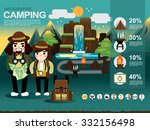 info graphic camping | Shutterstock .eps vector #332156498
