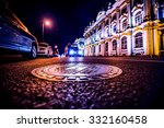 lights of the city at night ... | Shutterstock . vector #332160458