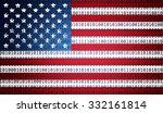 usa flag with binary text | Shutterstock . vector #332161814