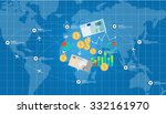 global international business...   Shutterstock .eps vector #332161970