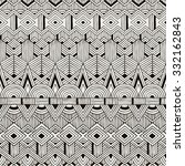 seamless tribal pattern. hand... | Shutterstock .eps vector #332162843