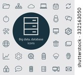 big data icons vector set | Shutterstock .eps vector #332163050