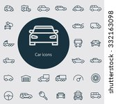 car icons vector set. | Shutterstock .eps vector #332163098
