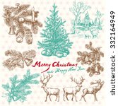 Hand Drawn Vintage Christmas...